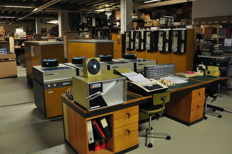 Photo of the RC4000 computer from 1971 in the basement of Dansk Datahistorisk Forening