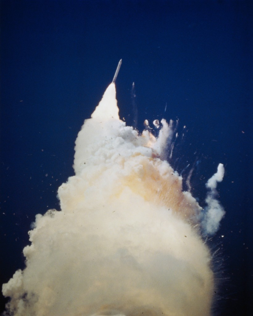 Photo of the space shuttle Challenger accident Jan. 28, 1986. Photo credit: NASA