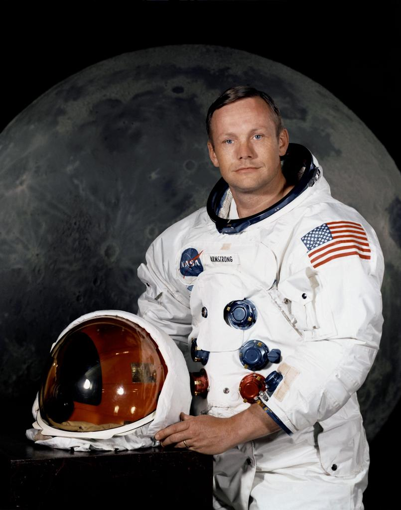 Neil Armstrong, first man to walk on the moon. Photo: NASA.